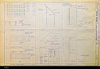 Blueprint - 1984 - United Methodist Chruch - Roof Framing - Foundation Plan...