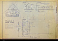 Blueprint - 1984 - United Methodist Chruch - Floor Plan, Exterior Elevations...