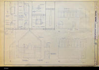 Blueprint - 1984 - United Methodist Chruch - Details for the Interior Elevation...