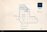 Blueprint - Corona Public Library - Lower Floor Plan