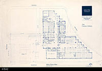 Blueprint - Corona Public Library - Main Floor Plan