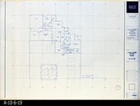 Blueprint - Corona Public Library - Lower Level Floor Plan North  - A2.2.1