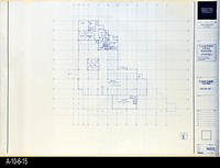 Blueprint - Corona Public Library - Lower Level Floor Plan  - A2.1.1