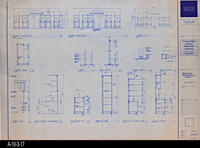 Blueprint - c. 1992 - Millwork Plans and Elevations Section - Lobby, Lounge...