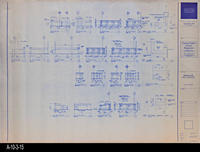 Blueprint - c. 1992 - Millwork Plans and Elevations - Audio-Visual, Lobby, Island...