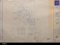 Blueprint - 1991 - Lower Level - Furniture Plan - North