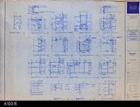 Blueprint - c. 1992 - Millwork Sections for various furniture pieces