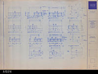 Blueprint - c. 1992 - Millwork Plans and Elevations - Reference Desk