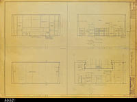 Blueprint - West, East, South Elevations and Section A-A (North) - Job No. 101-76...