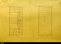 Blueprint - Heritage Room East and West Elevation