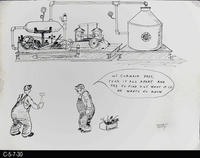 Poster - c. 1940 - Pen and Ink on Cardboard - Cartoon - Supervisors