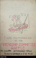 Poster - c. 1940's - WWII - Theme: Friendship Committee Raffle