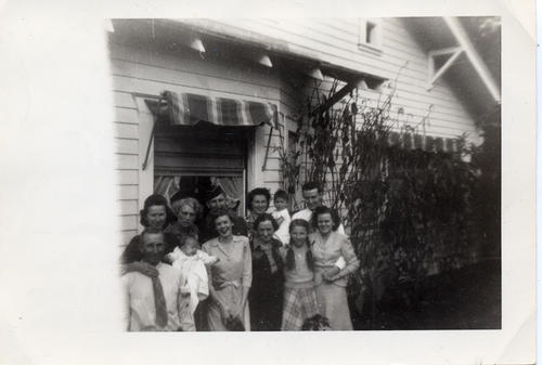 Photograph of the Bridenstine family outside their Corona home
