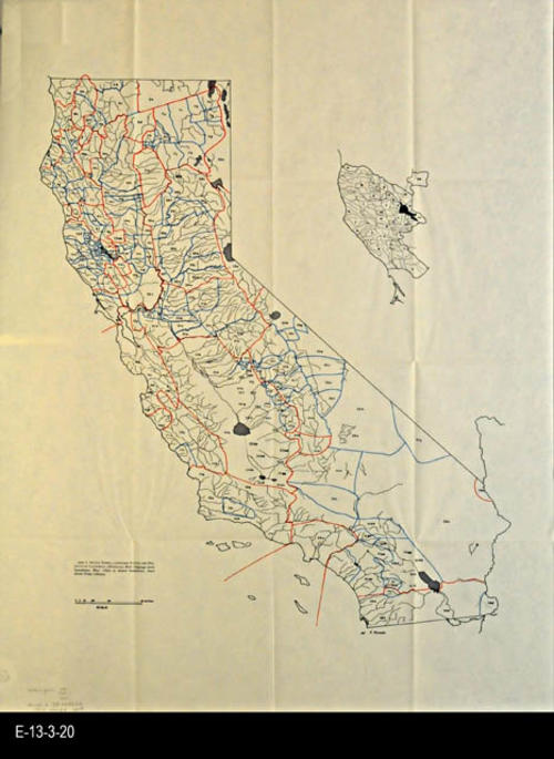 "This undated map shows the native tribes, groups, language families and dialects of California (Merriam) - MEASUREMENTS:  29"" x 22"" - CONDITION:  Good- COPIES:  1 - MAP ORIENTATION: Top is NORTH."