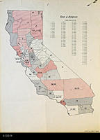 Map - State of California - Assembly District Population