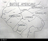 Map - Hand made map showing Native American Tribes