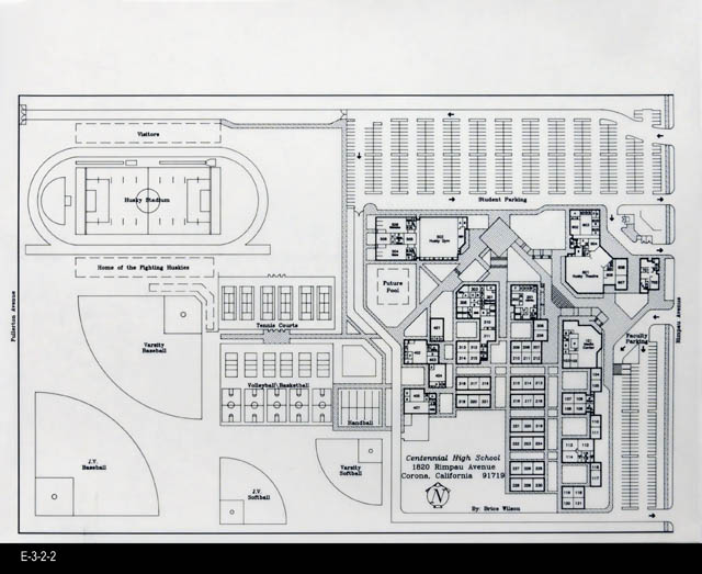 Blueprint architectural drawing c 1989 centennial high school blueprint architectural drawing c 1989 centennial high school malvernweather Choice Image