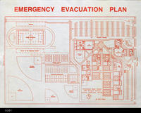 Blueprint - Map - c. 1990 - Emergency Evacuation Plan - Centennial High School...
