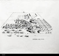 Blueprint - 3D Architectural Drawing - c. 1989 - Centennial High School