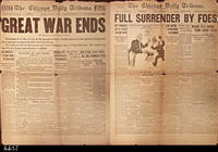 Newspaper - 1919 - Chicago Daily Tribune  - Double Sided Front Page:  Great...