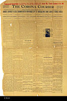Newspaper - 1905 - The Corona Courier - Death of Mrs. John L. Taber