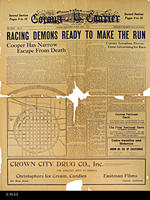 Newspaper  - 1916 - Corona Courier - Road Race Coverage