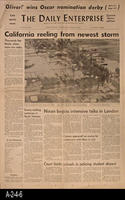 Newspaper - 1969 - The Daily Enterprise - Flooding In Corona and other parts...