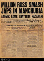 1945 - Million Russ Smash Japs In Manchuria - Atomic Bomb Shatters Nagasaki