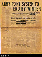 1945 - Army Point System To End by Winter - More Thousands Join Strikes in U.S....