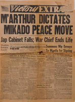 1945 - M'Arthur Dictates Mikado Peace Move