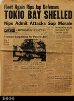 1945 - Tokio Bay Shelled - Nips Admit Attacks Saps Morale