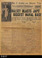 1945 - Halsey Blasts Japs' Biggest Naval Base