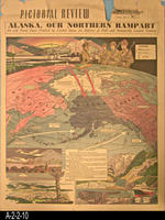 Newspaper - 1941 - Los Angeles Examiner - Map - Alaska, Our Northern Rampart...