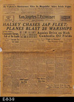 1945 - Halsey Chases Jap Fleet; Planes Blast 25 Warships
