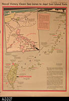 Newspaper - 1944 - Los Angeles Times - Map - Naval Victory Clears Sea Lanes...