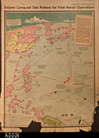 Newspaper - 1944 - Los Angeles Times - Map - Saipan Conquest Sets Pattern for...