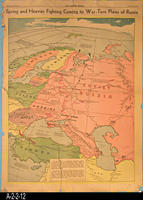 Newspaper - 1942 - Los Angeles Times - Map - Spring and Heavier Fighting Coming...