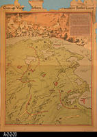 Newspaper - 1943 - Los Angeles Times - Map - Battle for Tunisia