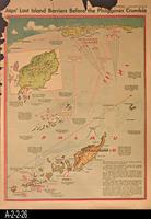Newspaper - 1944 - Los Angeles Times - Map - Japs' Last Island Barriers Before...