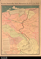 Newspaper - 1944 - Los Angeles Times - Map - Russian Steamroller Gains Momentum...