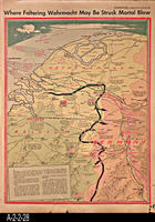 Newspaper - 1944 - Los Angeles Times - Map - Where Faltering Wehrmacht May Be...
