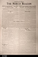 Newspaper - 1928 - The Norco Beacon- Advertisement Edition - Covers Local Govt.,...