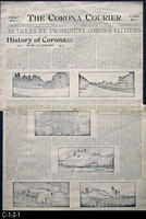 Newspaper - 1905 - Photocopy - Articles by Prominet Corona Citizens - History...