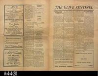Newspaper - 1925 - The Olive Sentinel  (Olive, Orange County) - General News...