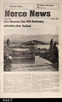 Newspaper - 1989 - Norco News - Lake Norconian Club 60th Anniversary Plans Finalized...