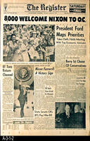 Newspaper - 1974 - The Register - 8,000 Welcome Nixon to O.C.