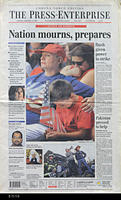"Newspaper - 2001 - The Press Enterprise - ""Nation mourns, prepares"""