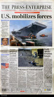 "Newspaper - 2001 - The Press Enterprise - ""U.S. mobilizes forces"""