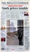 "Newspaper - 2001 - The Press Enterprise - ""Stock prices tumble"""