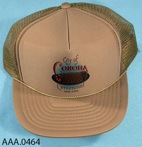 This artifact is a kakhi, Corona Centennial, one size fits all, Ball Cap.